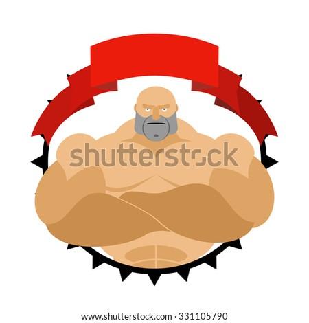 Forte uomo cerchio logo fitness stanza Foto d'archivio © popaukropa