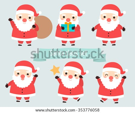 Happy Christmas. Cute Santa Claus holding many gifts and Christm Stock photo © popaukropa
