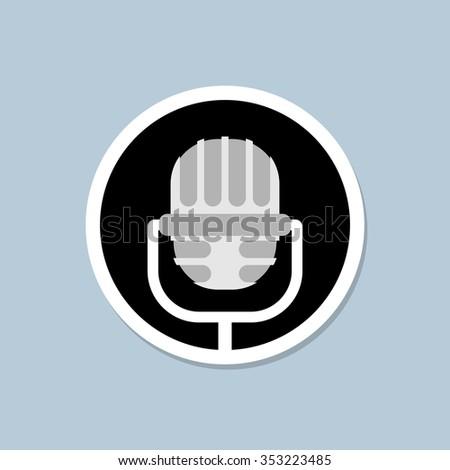 Retro microphone icon. Device for lead. Accessory for performanc Stock photo © popaukropa