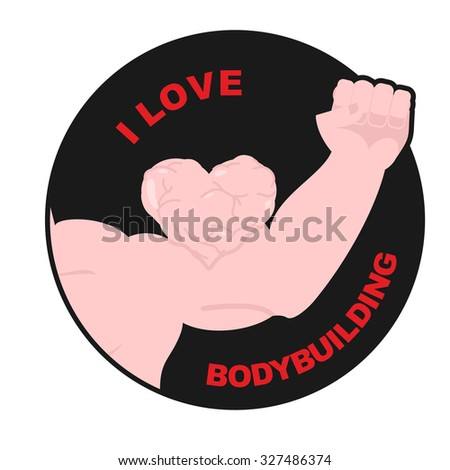 I love bodybuilding. Muscle biceps sweetheart. Hand  athlete wit Stock photo © popaukropa