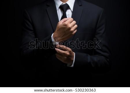 portrait of elegant businessman in black tuxedo and black bowtie Stock photo © feedough