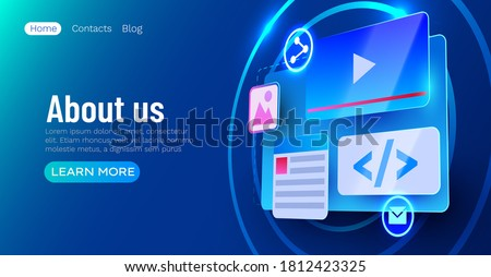 Website pagina vector business agentschap web Stockfoto © pikepicture