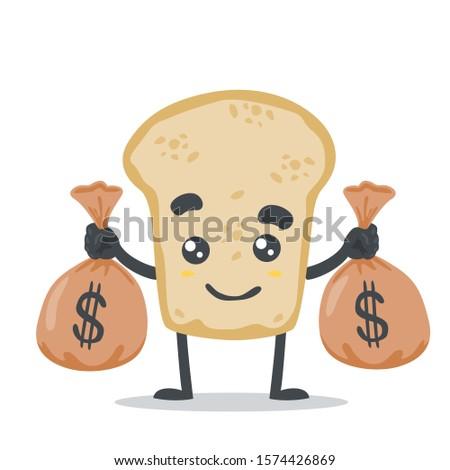 Drăguţ mascota de desene animate dolar Imagine de stoc © hittoon