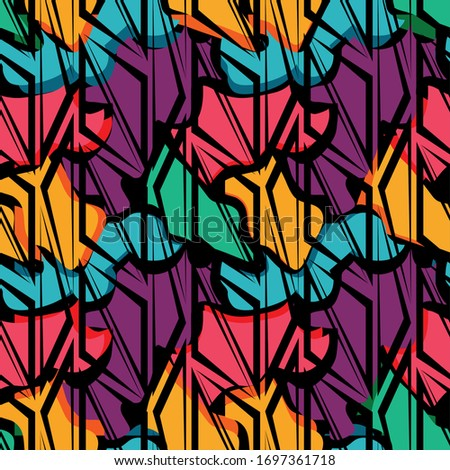 Abstract naadloos etnische stijl cirkel eenvoudige Stockfoto © ESSL