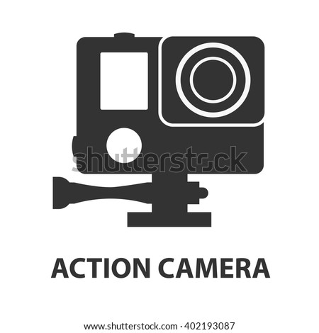 Action Camera Vector. Active Extreme Sport Video. Equipment For Filming. Shooting Process. Isolated  Stock photo © pikepicture