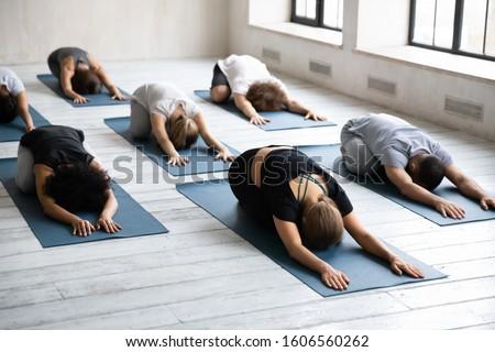 Grupo diverso personas ejercicio blanco Foto stock © AndreyPopov