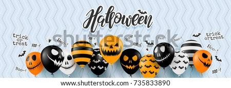Halloween strony ulotki scary dynia księżyc Zdjęcia stock © articular