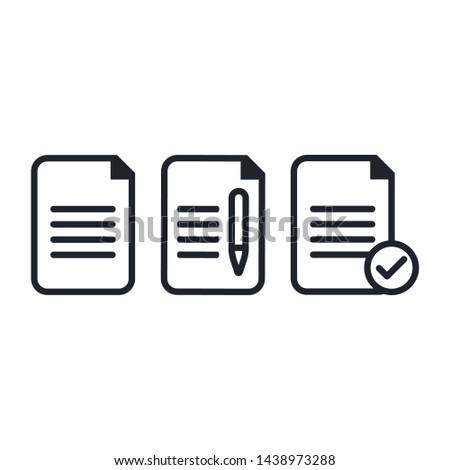 Dokument Symbol Seite Business Papier Hintergrund Stock foto © kyryloff