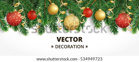 Luxury Christmas design with red Christmas balls and Xmas glass ball over red background. Holiday de Stock photo © olehsvetiukha