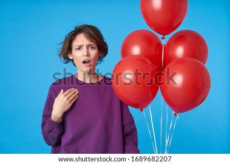 Portrait perplexe femme 20s Photo stock © deandrobot