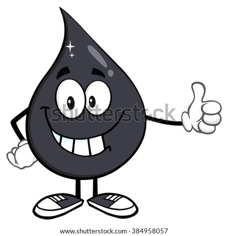 Smiling Petroleum Or Oil Drop Cartoon Character Giving A Thumb Up Stock photo © hittoon