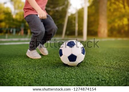 ребенка · играет · Футбол · Kid · футбольным · мячом - Сток-фото © matimix