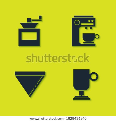Retro manual coffee grinder or mill and mug of coffee on a saucer. Stock photo © Arkadivna