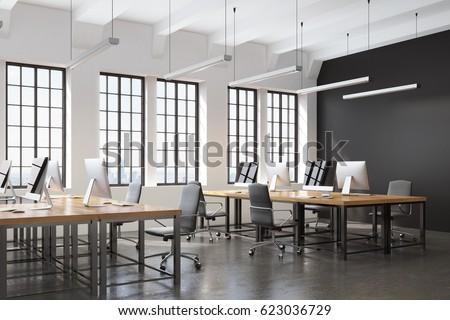 Büro · Arbeitsplatz · Tabelle · Laptop · weiß · Architektur - stock foto © artjazz