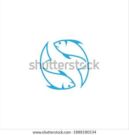 Fish and letter S logo template or emblem for shop or restaurant Stock photo © ussr