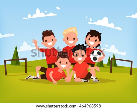 Children Team Sport. Kids Play Sports Game. Children Sporty Team Stock photo © matimix