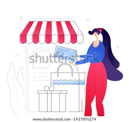 Online alışveriş modern renkli dizayn stil örnek Stok fotoğraf © Decorwithme