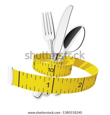 fourche · mètre · à · ruban · lumière · fitness · fond - photo stock © winner