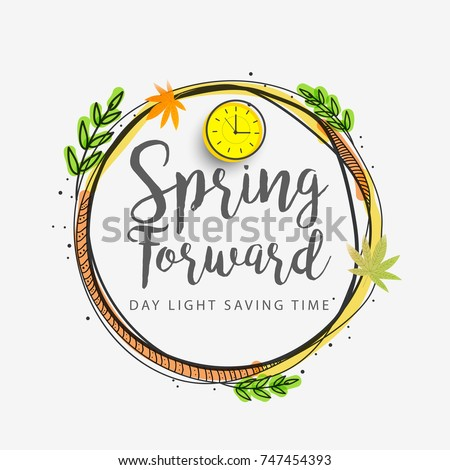 Daylight saving time. Set of clock time for Spring forward, Autumn back, Summer time Stock photo © FoxysGraphic