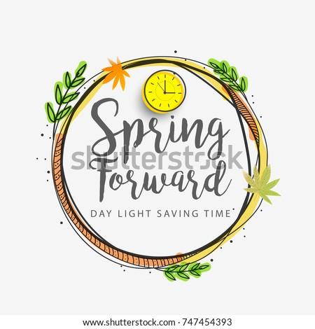 Daglicht besparing tijd ingesteld klok voorjaar Stockfoto © FoxysGraphic