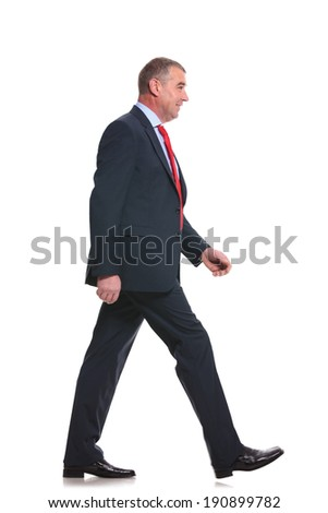 Full length photo of successful corporate man or office manager  Stock photo © deandrobot