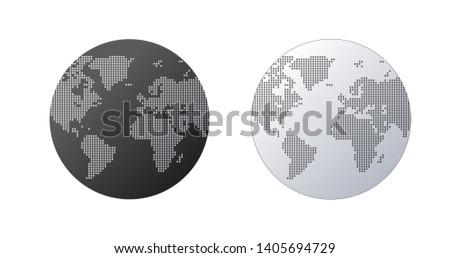 Simple mundo forma mapa del mundo blanco global Foto stock © kyryloff