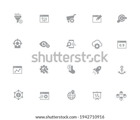 веб мобильных иконки белый вектора работу Сток-фото © Palsur