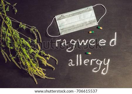 Medische masker allergie banner lang formaat Stockfoto © galitskaya