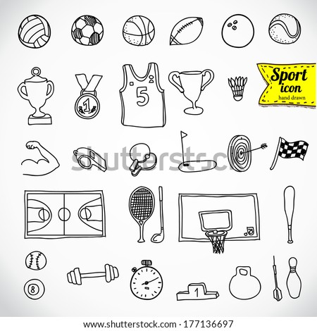 winter sports hand drawn vector doodles illustration ski resort poster stock photo © balabolka