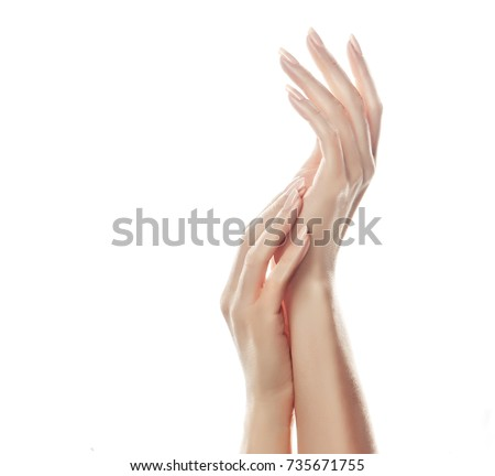 Afbeelding mooie handen licht roze Stockfoto © serdechny