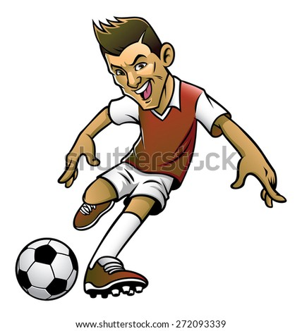 Stock photo: soccer league player cartoon