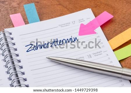 Diariamente dentista nomeação trabalhar caneta Foto stock © Zerbor