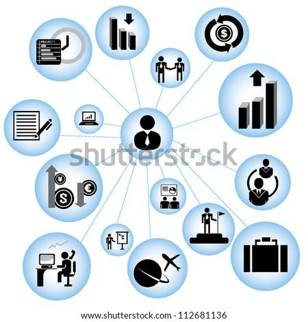 Groep vergadering geest kaart laptop digitale composiet Stockfoto © wavebreak_media