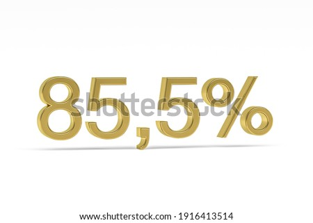 eighty five percent on white background isolated 3d illustratio stock photo © iserg