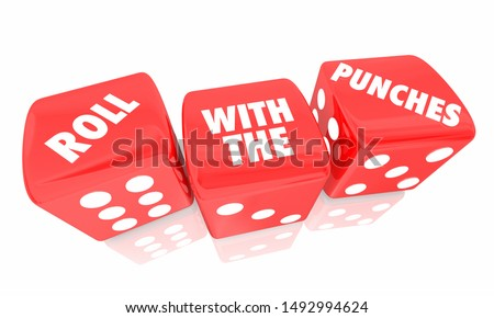 Roll With the Punches Dice Adapt Change 3d Illustration Stock photo © iqoncept