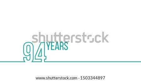 Jahre Jahrestag Geburtstag linear Gliederung Grafiken Stock foto © kyryloff