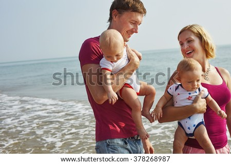 Estilo de vida foto normal familia bebé ninos Foto stock © Lopolo