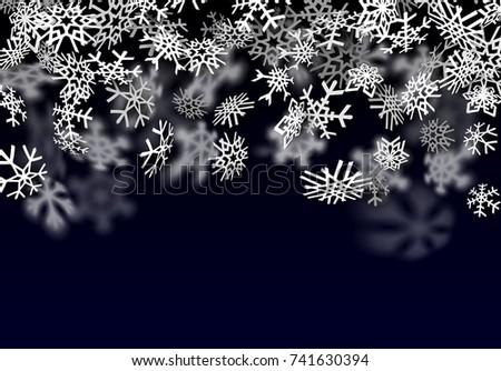 Chutes de neige relevant transparent neige grand flocon de neige Photo stock © SwillSkill