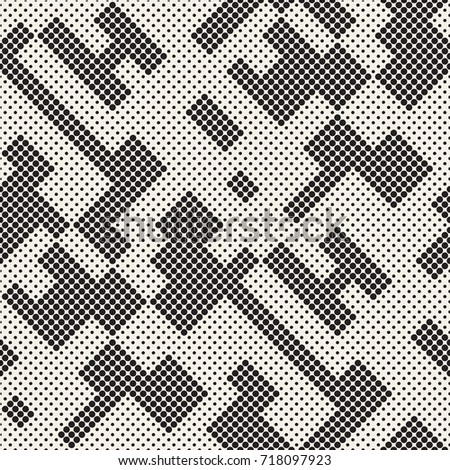 Stylish halftone texture. Endless abstract background with random size shapes. Vector seamless patte Stock photo © Samolevsky