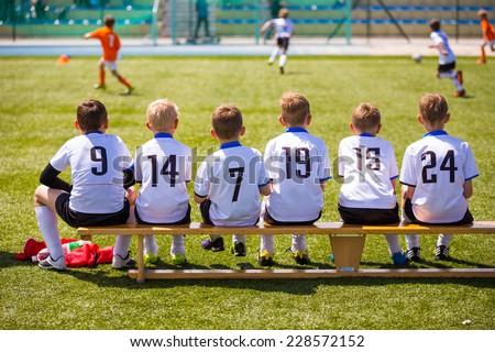 дети спортивная команда счастливым мальчики футбола команда Сток-фото © matimix