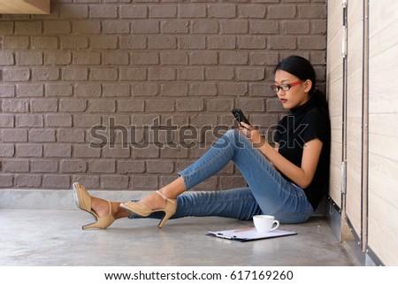 Portre çekici genç kadın kahverengi yanak Stok fotoğraf © vkstudio