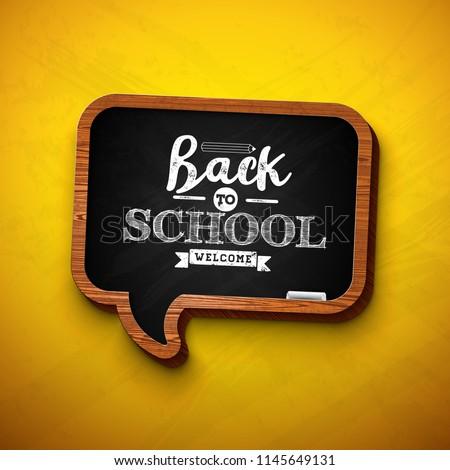 Volver a la escuela venta diseno grafito lápiz tipografía Foto stock © articular