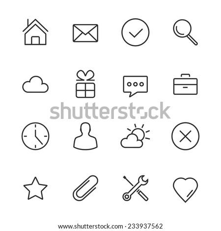 Ulubione serca odizolowany minimalny ikona wektora Zdjęcia stock © kyryloff