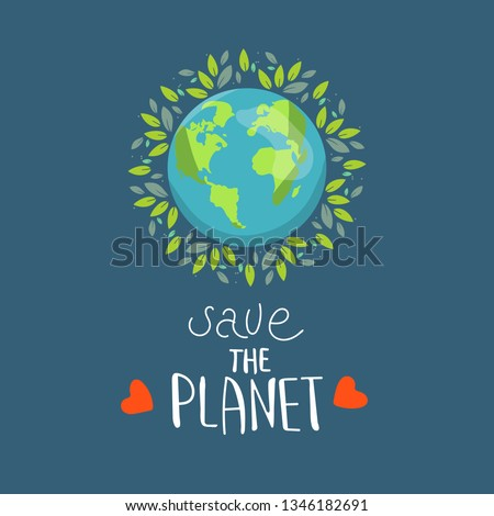 Earth Day, protect our planet, eco, ecology, climate changes, Earth Day April 22, vector illustratio Stock photo © ikopylov