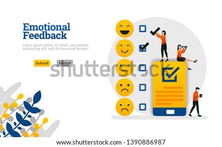 набор лицах масштаба обратная связь обслуживание клиентов качество Сток-фото © ukasz_hampel