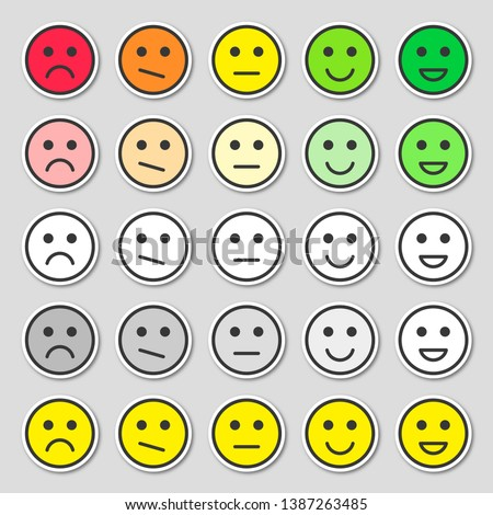 Feedback concept design, emotions scale rating. Simple and flat feedback stickers.  Stock photo © ukasz_hampel