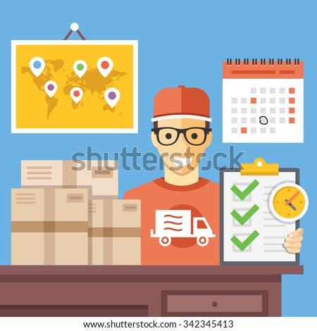 почтовое отделение транспорт компания икона вектора тонкий Сток-фото © pikepicture