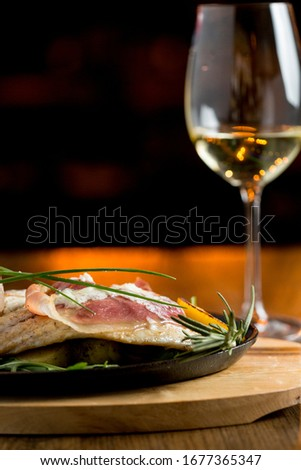 Zee gevuld room kaas gerookt ham Stockfoto © boggy