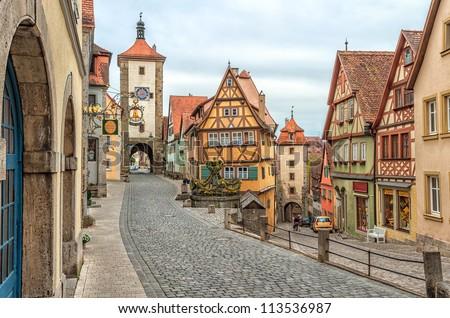 Rue architecture médiévale ville vue Photo stock © xbrchx