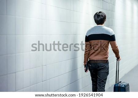 Masculino aeroporto mala descartável médico Foto stock © vkstudio